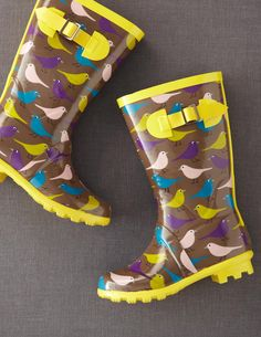 Rainy Day Wellies--if only it rained here. super cute wellies