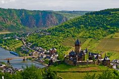 Mosel River, Germany  Mosel River, Germany, one of my (spectacular) visited cities!  Amviance, vineyards, castles...nothing more needs to be written.