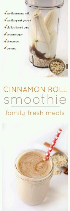 Cinnamon Roll smoothie....