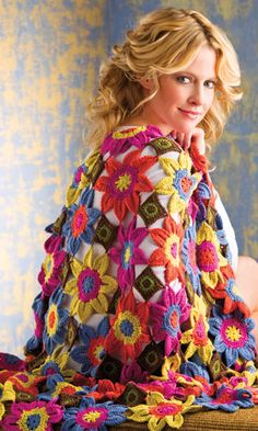 At Home -- Vivaldi Throw from Crochet! magazine