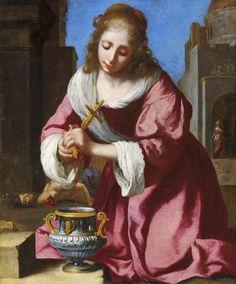 'Santa Praxedes', autenticada como sendo de autoria de Johannes Vermeer (1632-1675)