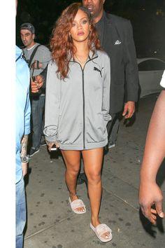 Rihanna - Leaving Hooray Henry's night club in Los Angeles.    - ELLE.com