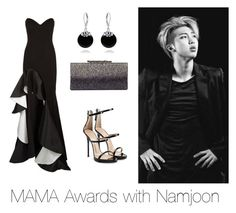 """""""MAMA Awards with Namjoon"""" by bts-outfit-imagines on Polyvore featuring Jovani, Giuseppe Zanotti, Jimmy Choo and Bling Jewelry"""