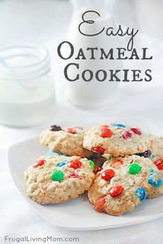Easy Oatmeal Cookies - a little less sugar than most