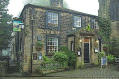 The Black Bull; Haworth, UK: home of the Bronte sisters - for when I go to the Cherish Conference in Bradford, UK. Yorkshire England, West Yorkshire, Places To See, Places Ive Been, Life In The Uk, Bronte Sisters, Most Haunted, English Countryside, British Isles