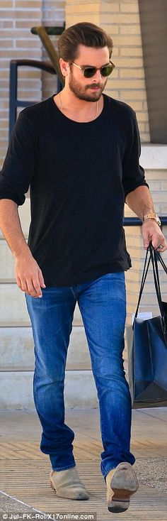 Across town: Scott Disick indulged himself with a luxury shopping trip after rehab return on Thursday
