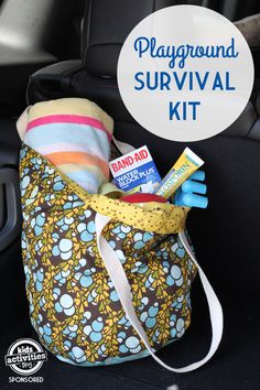 Prepare for Play! How to pack a playground survival kit.