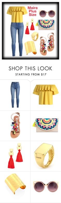 """""""Maira's Vacation Look"""" by mairaplussize ❤ liked on Polyvore featuring Chicwish, Steve Madden, Merona, Madewell, Tory Burch and Erdem"""
