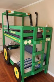 Tractor Bunk Beds! How cute are these?!?