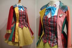 Female Sixth Doctor Who Cosplay Colin Baker- Hand Made To Order - Jacket, Corset-Waistcoat, Necktie and Skirt