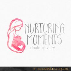 Pregnant Mother Logo Design Mother and Child by SacredWilde