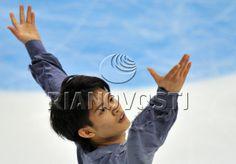 Japan's Takahiko Kozuka, bronze medal winner, performs his short program at the 4th round of the Figure Skating Grand Prix.