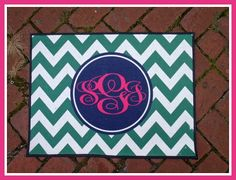 Personalized Door Mat Rug Monogrammed Doormat by ChicMonogram, $45.00