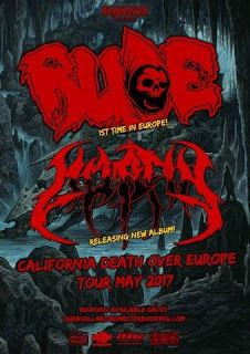 Long Live The Loud 666: RUDE CALIFORNIA DEATH OVER EUROPE 2017 WITH: MORFI...