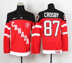 Canada Olympic 100th Anniversary Jersey 87 Sidney Crosby red