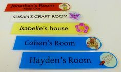 Children door signs Isabelle Susan #ispy with my little eye something beginning with 'P' #Personalized #Kids #Sign http://www.de-signage.com/InteriorGlassAcrylicHouseProducts.php