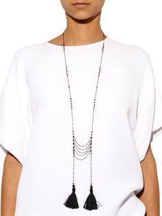 Ruby-agate tassel necklace | Zeus + Dione | MATCHESFASHION.COM