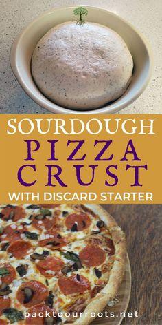 Sourdough Starter Discard Recipe, Bread Starter, Sourdough Recipes, Sourdough Bread, Sourdough Pizza Dough Recipe, Bread Recipes, Starter Recipes, Crust Recipe, Bread Baking