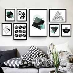 Geometric Abstract Modern Minimalist Decorative Oil Painting Living Room Mural Creative Personality Photo Poster Canvas Painting -- You can get more details by clicking on the image. #HomeDecor