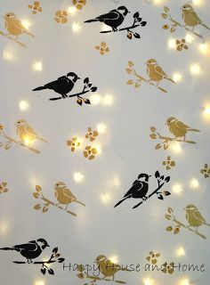 DIY Stencil Canvas with Twinkle Lights - easy (and cheap) wall art, or a cool night light!