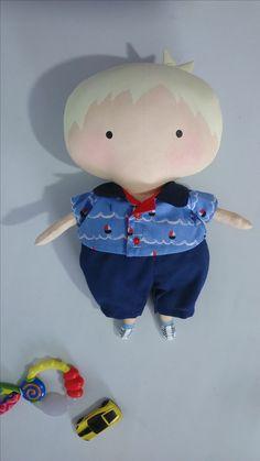 Tilda Doll Boy Es 100% hecha algodón de calidad, el cuerpo de la muñeco llena de relleno antialérgico