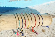colourful bracelets, inspirational beach jewellery #melonseedjewellery
