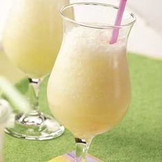 Pina Colada Slush (Non-Alcoholic)..This is great to make ahead, so its readily available!