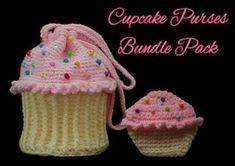Cupcake Purses Crochet Pattern Bundle Pack   YouCanMakeThis.com