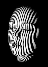 striped face