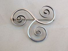 American Modernist FRANCES HOLMES BOOTHBY fhb Sterling Silver PIN BROOCH signed  #fhb
