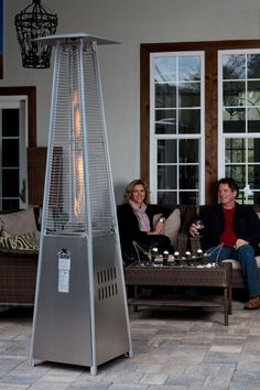 Fire Sense - 60523 - Pyramid Flame Heater provides a uniquely visual flame while providing heat in every direction, and will be the focal point of any outdoor setting. This high quality unit features a tip over protection system for your safety. Natural Gas Patio Heater, Propane Patio Heater, Outdoor Heaters, Thing 1, Fire Pit Table, Outdoor Settings, Outdoor Living, Gas Fireplaces, Electric Fireplaces
