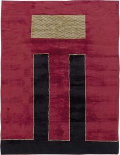 Vintage Rugs French Art Deco Rug for modern interior decor scandinavian scandi lliving room