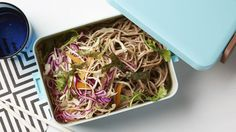 Get Healthy Peanut Soba Noodles with Vegetable Salad Recipe from Food Network