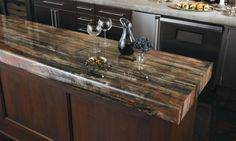 Formica 180fx 3474 Petrified Wood - Maybe over-the-top for the kitchen, but would be pretty cool for the basement bar area.