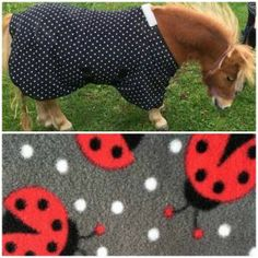 LADYBIRD RED WITH BLACK SPOTS FLEECE FABRIC STIRRUP IRON COVERS PROTECTORS