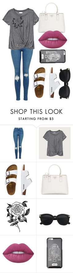 """Sin título #7"" by sarai-almaguer on Polyvore featuring moda, Topshop, Abercrombie & Fitch, TravelSmith, Prada, Forever 21 y Lime Crime"