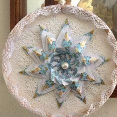 Handmade Victorian Style Origami Star Decor Teabag Folded by GracelinePaperStudio on Etsy