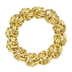 Tiffany & Co. 18k Gold Fancy Knot Link Bracelet