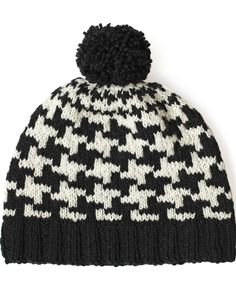 Yarnspirations.com - Patons Send in the Hounds(tooth!) Hat - Patterns    Yarnspirations