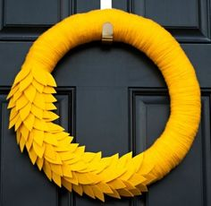 DIY Fabulous Fall Wreaths with Fabric, Felt and Yarn