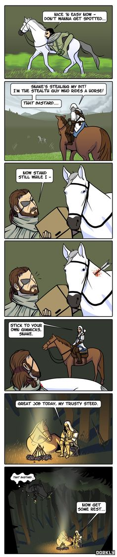 Metal Gear Solid vs. Assassin's Creed: Battle of the Stealth Horses - Dorkly Comic