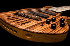 Chellee custom 6-string bass for Nick Melashenko of Munk Tung... sweet string through bridge setup