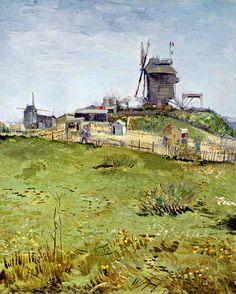 Vincent Van Gogh - Post Impressionism - Paris - Le Blute-fin, le Moulin de la Galette
