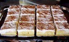 Pudinkové řezy se skořicí recept | Vaření.cz Czech Recipes, Ethnic Recipes, Sweet Breakfast, Sweet Recipes, Sweet Tooth, French Toast, Cheesecake, Deserts, Food And Drink