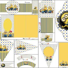 Inspired in Despicable Me and Minions Party: Free Printable Mini Kit.   Oh My Fiesta! in english