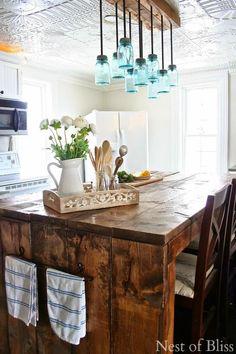 Diy lámparas con botes de cristal | Decorar tu casa es facilisimo.com