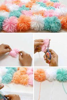 Check out the tutorial: #DIY Pom Pom Rug! #crafts #homedecor