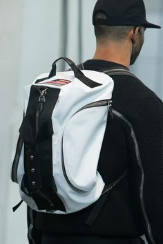 Givenchy Fall 2014 Menswear, American flag backpack. Image via Style.com   #givenchy