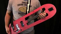 red Skateboard guitar obviously customized!