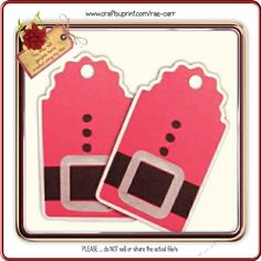 Cute layered Santa Tag - use on gifts, your cards, or scrapbook pages.The ZIP…